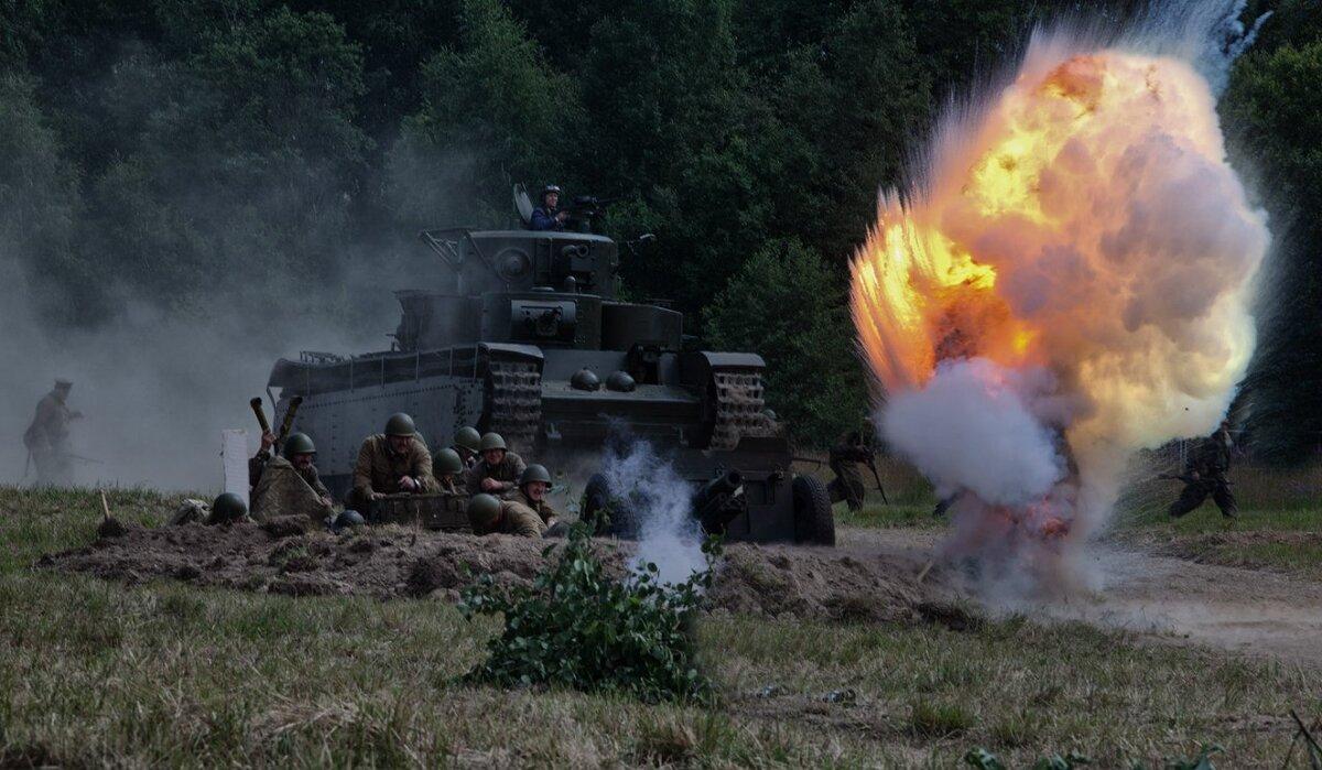картинка русские танки на поле боя