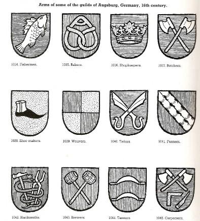 герб сапожника в средневековье картинки алена