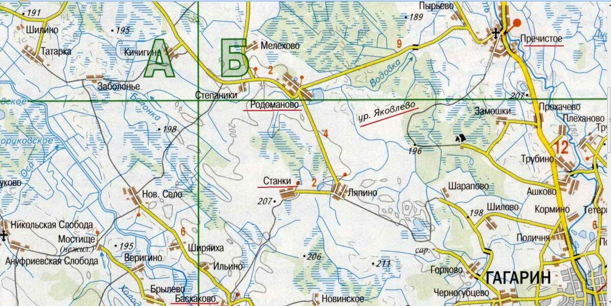 Гжатский Уезд Карта
