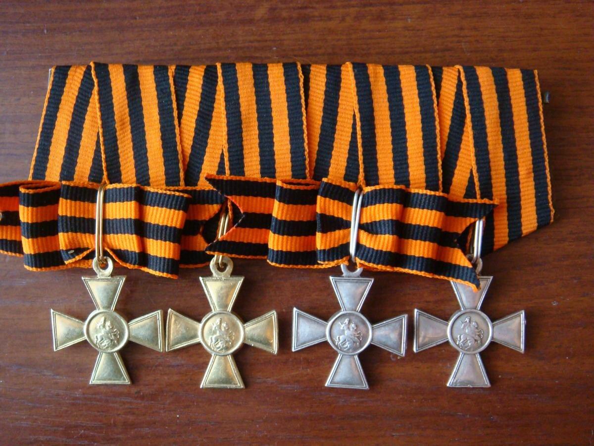 Фото георгиевских крестов и два ордена славы