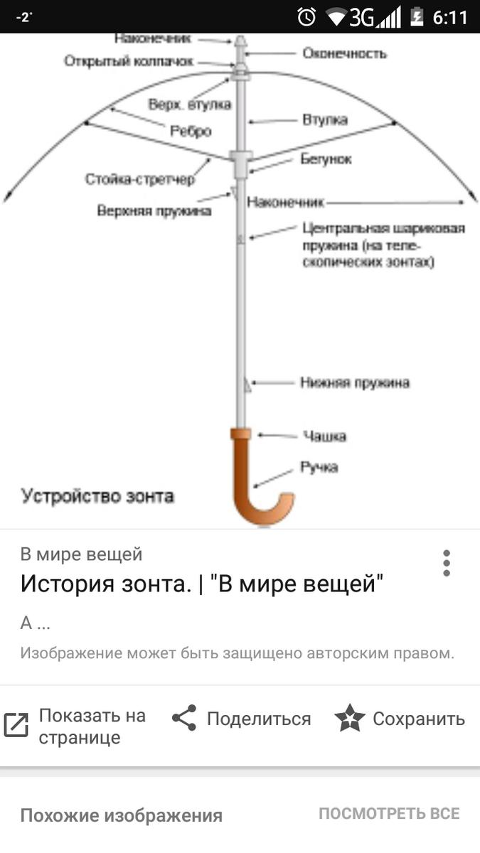 Ремонт своими руками зонт автомат